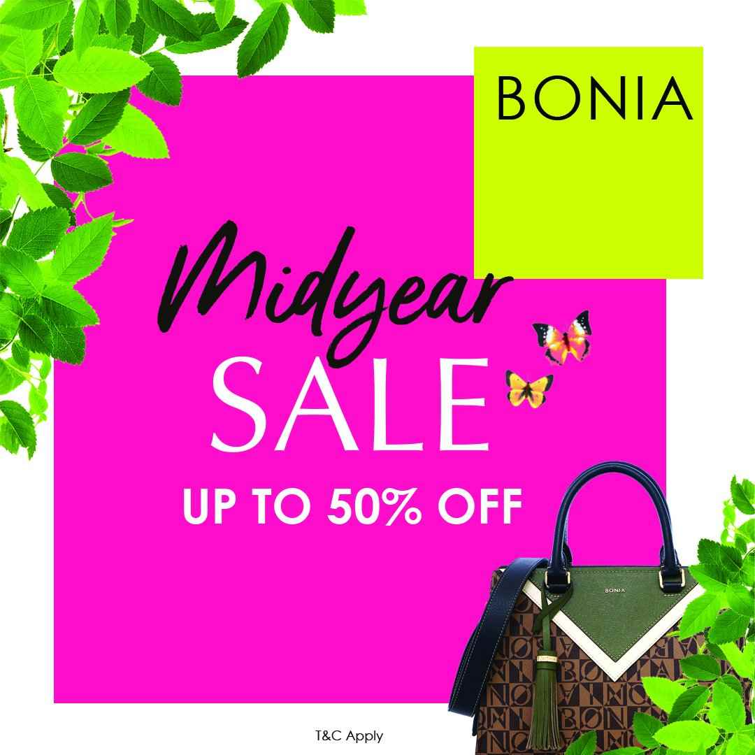 Diskon BONIA MID YEAR SALE up to 50% off