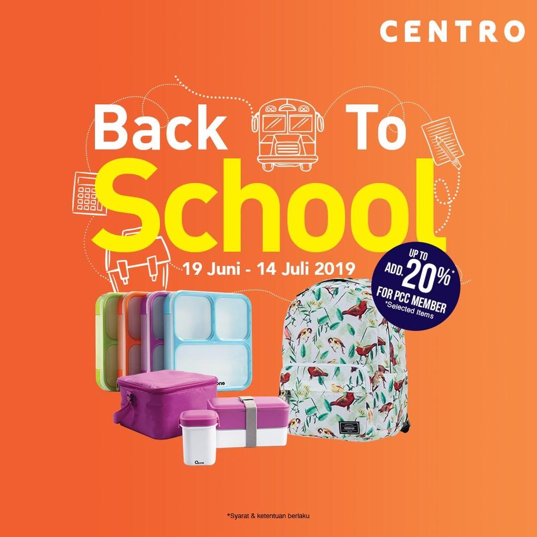 CENTRO dan PARKSON Promo BACK TO SCHOOL, DISKON hingga 50%