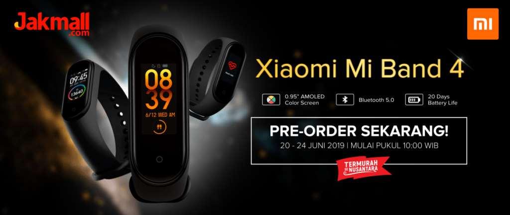 JAKMALL Pre-Order Xiaomi Mi Band 4 Indonesia Original, Harga Spesial cuma Rp. 449ribu
