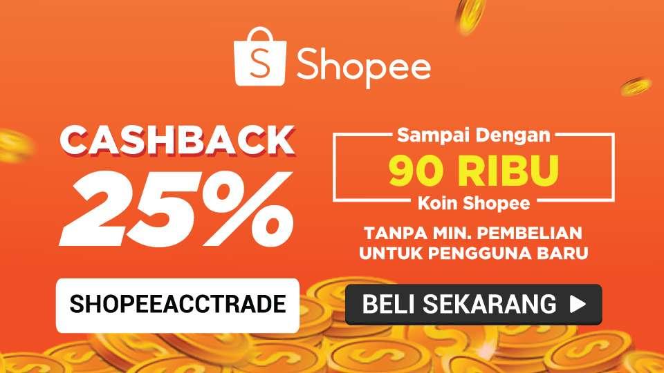SHOPEE.CO.ID Promo Cashback 25% sd. 90 Ribu Koin Shopee Untuk Pengguna Baru!