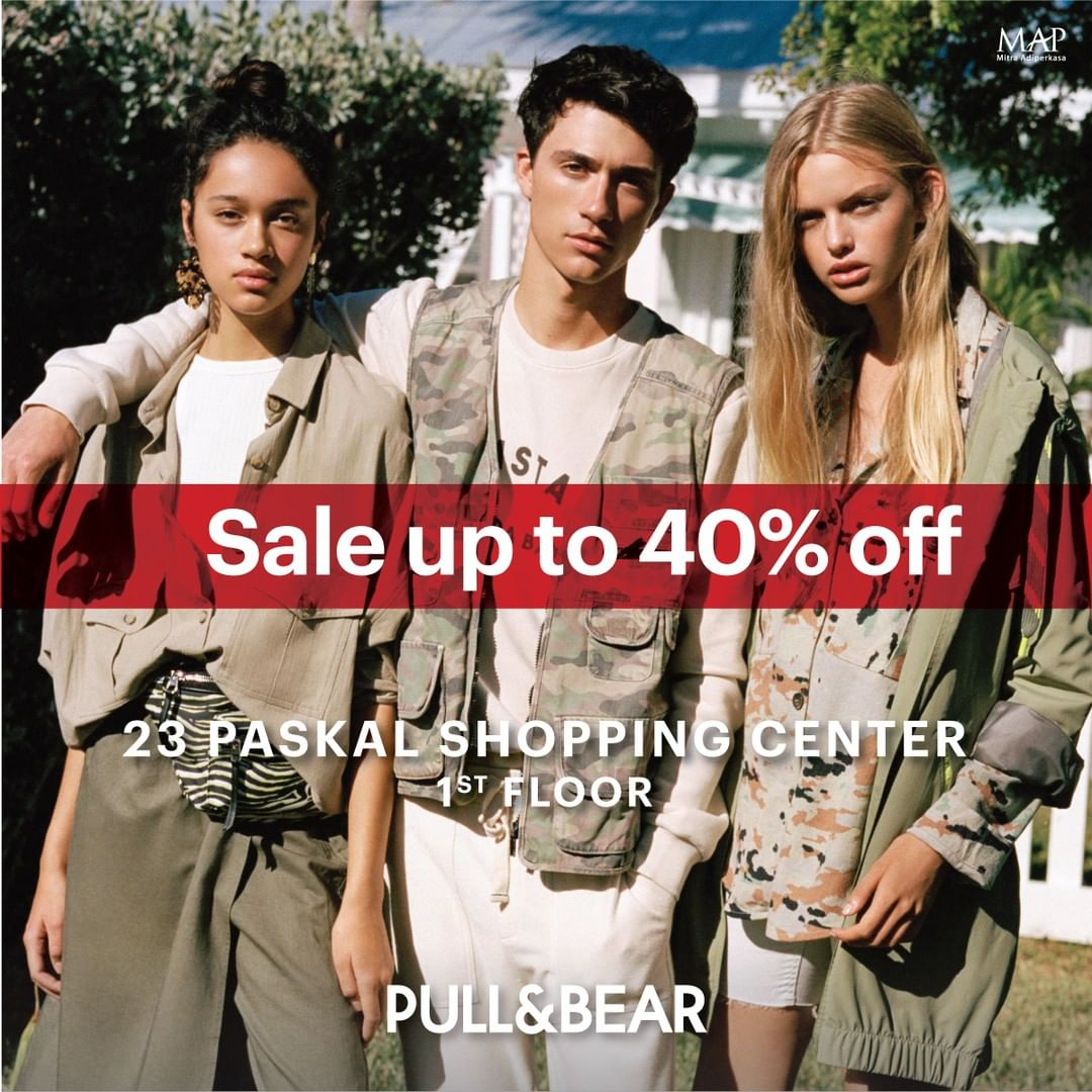 Diskon PULL & BEAR Promo Sale Up to 40% off