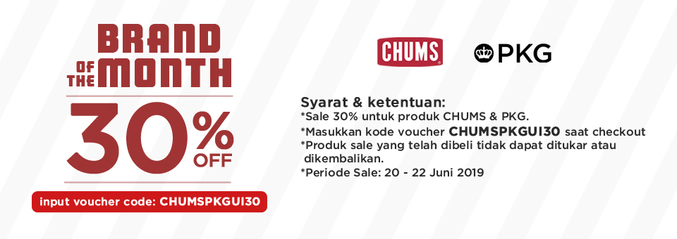 Diskon URBAN ICON Promo Brand Of The Month Diskon 30% untuk Produk CHUMS & PKG