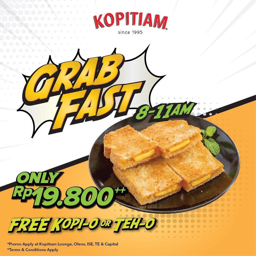 Diskon KOPITIAM PromoGrab Fast Package only Rp.19.800