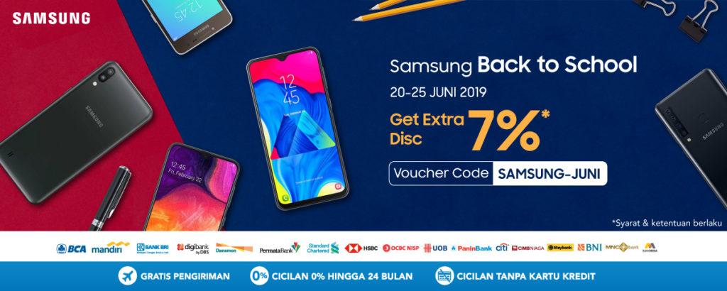 BLIBLI.COM Promo SAMSUNG Disc up to 25% + Get Extra Disc 7% untuk Smartphone Samsung!