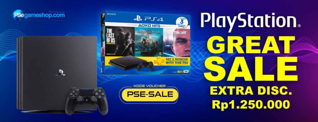 Diskon BLIBLI.COM Promo PLAY STATION Great Sale, Extra Disc Rp.1.250.000