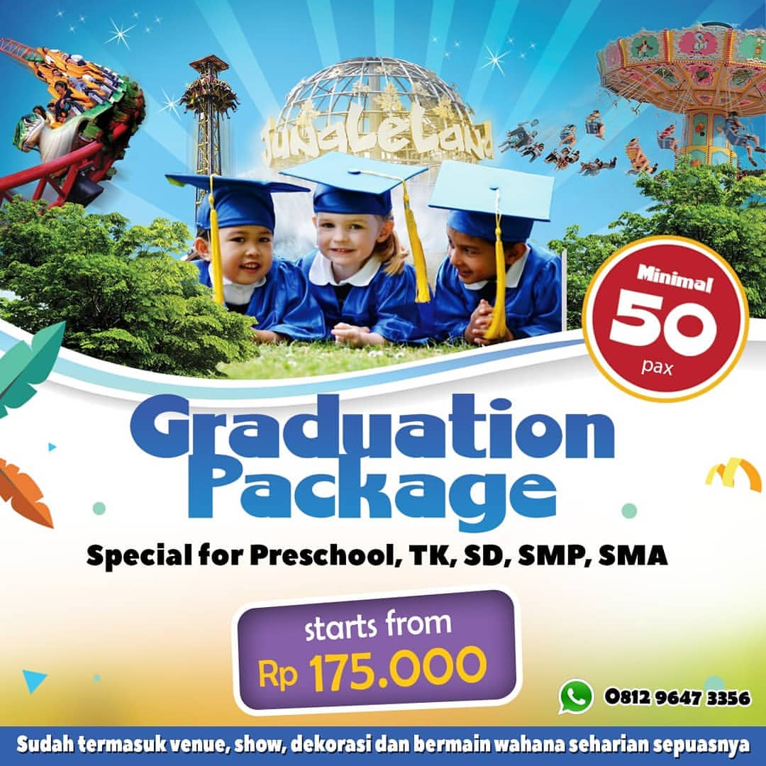 JUNGLELAND Promo Graduation Package starts from Rp. 175.000/pax