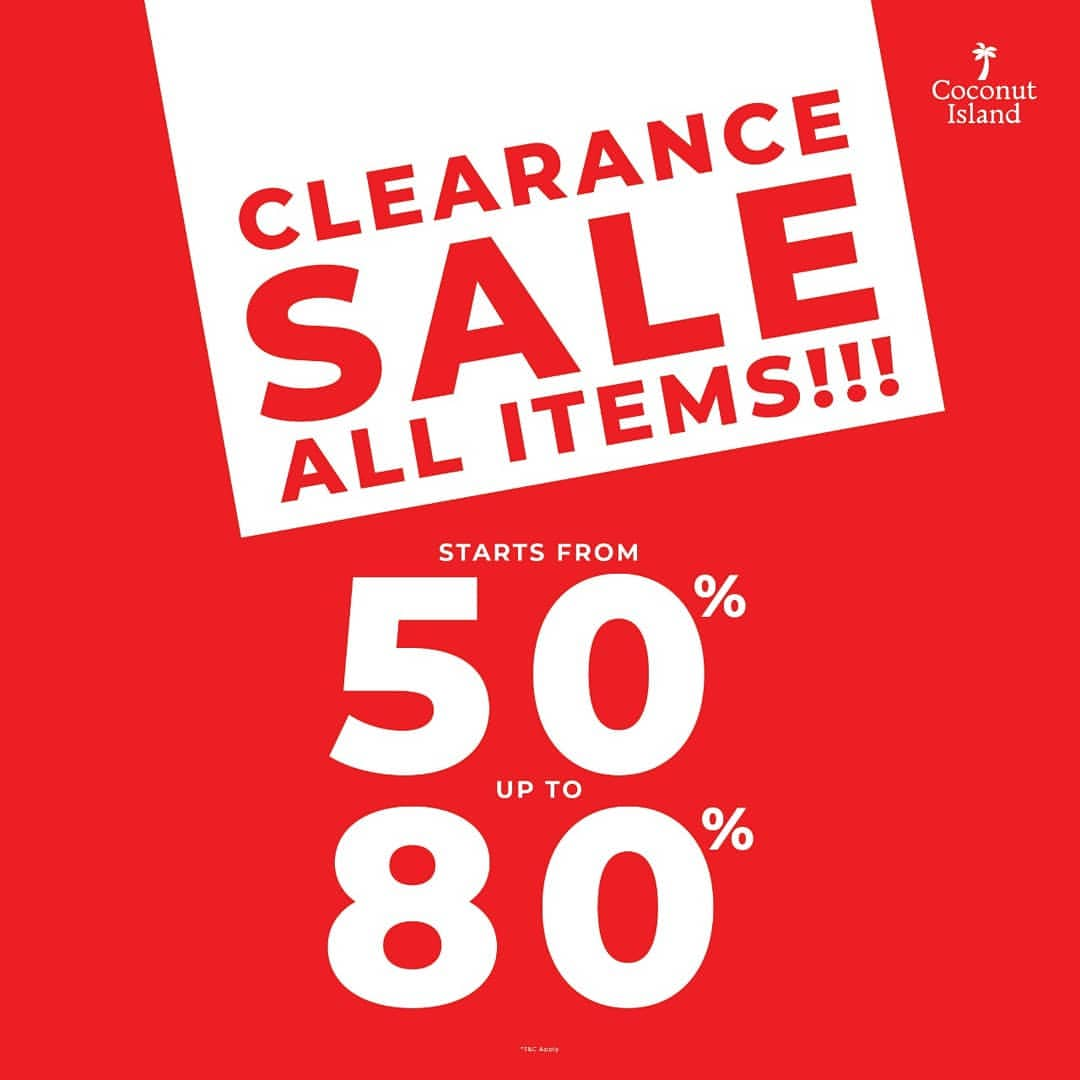 Coconut Island Clearance Sale Starts From 50% Discount up to 80%