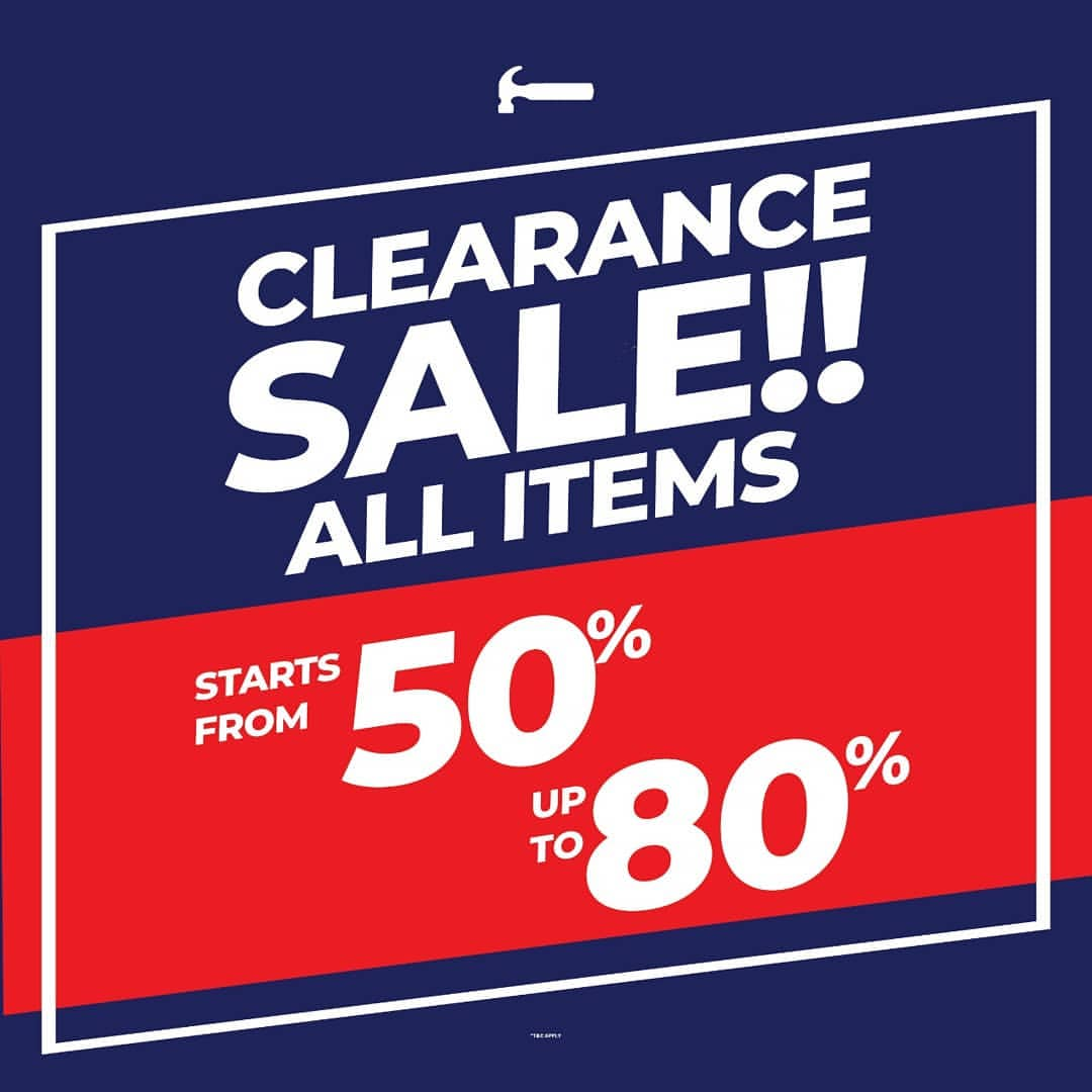 HAMMER Promo Clearance Sale Up to 80% All Items