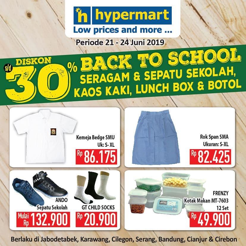 HYPERMART Promo BACK TO SCHOOL Diskon hingga 30%