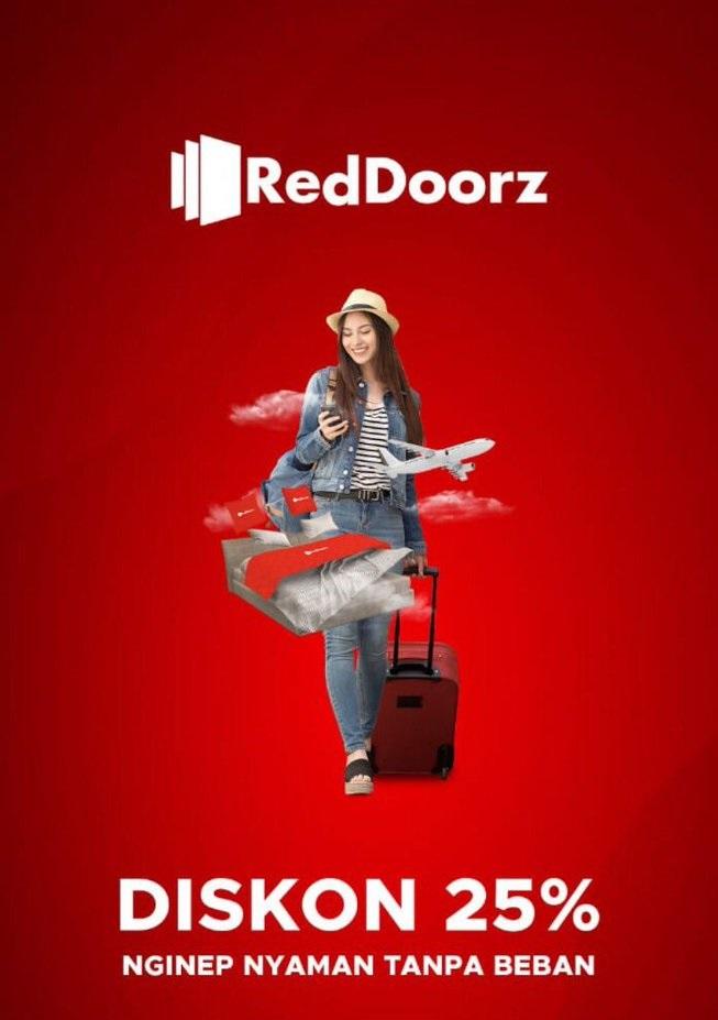 RedDoorz Promo Voucher Diskon 25%