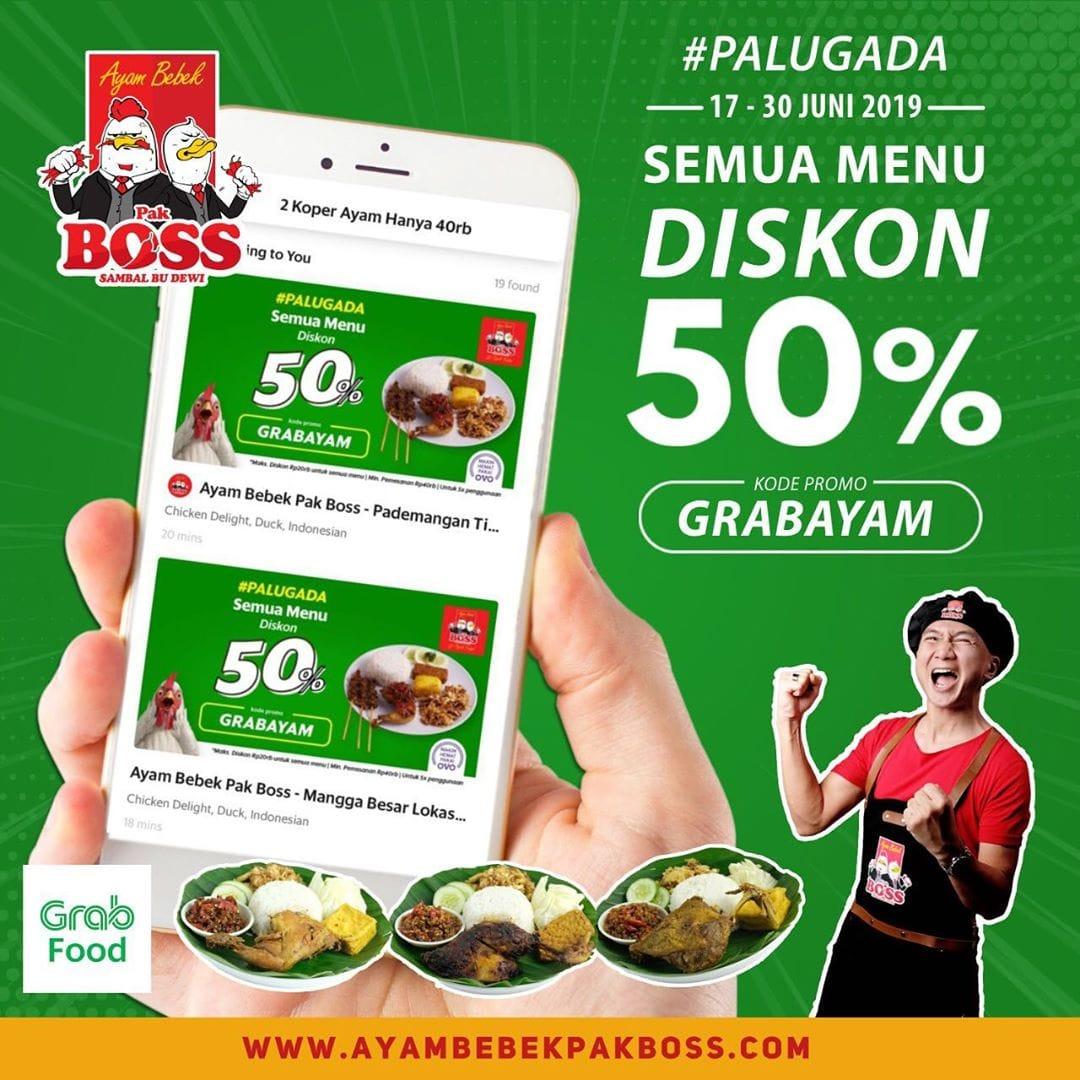 Ayam Bebek Pak Bos Promo Spesial Diskon 50% Di GRABFOOD