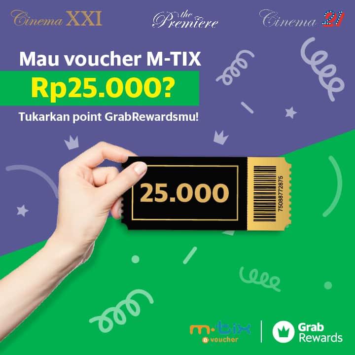 Cinema XXI Promo Spesial FREE Voucher Mtix Dengan Redeem Grab Rewardpoints!