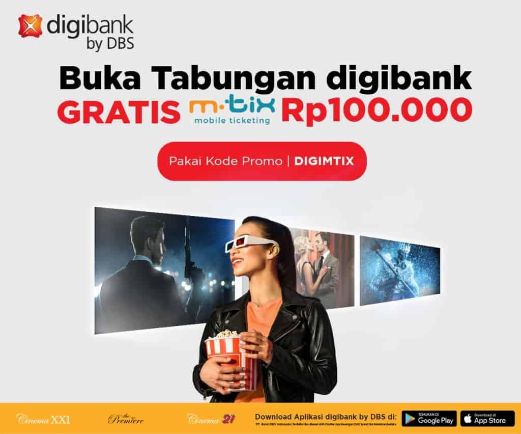 Diskon Cinema XXI Promo Buka Tabungan Digibank Langsung Gratis Saldo MTIX