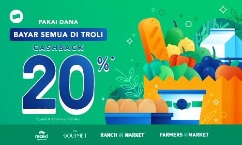 Diskon Dana Promo Belanja Semakin Hemat Dengan Cashback 20%