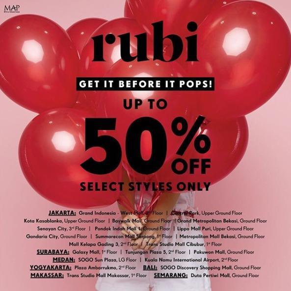 Diskon Rubi Shoes Promo End Of Season Sale, Diskon Hingga 70%