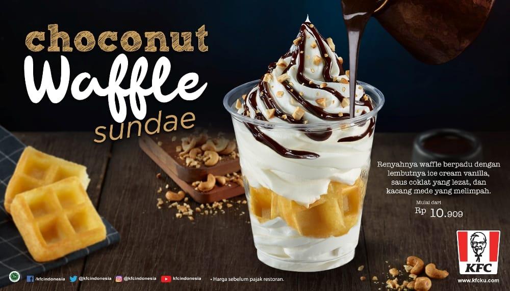 KFC Promo Menu Baru Choconut Waffle Sundae, Harga Cuma Rp.10 Ribuan
