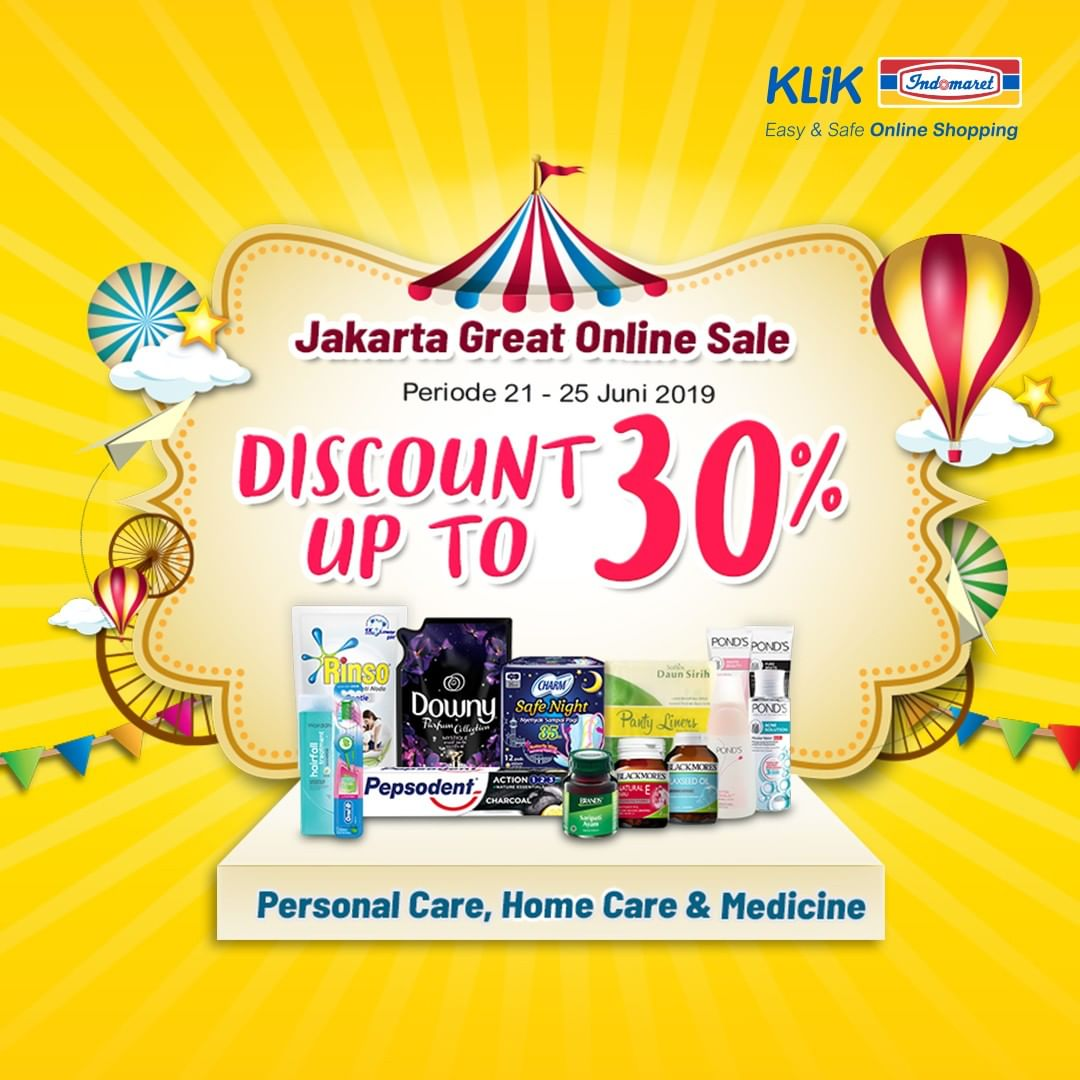 Diskon Klik Indomaret Diskon 30% untuk Produk Personal Care, Home Care & Medicine