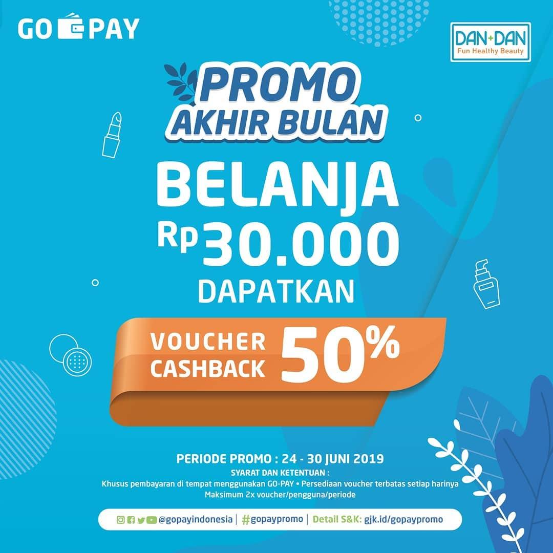 Diskon DAN+DAN Promo Akhir Bulan Belanja dan Dapatkan Voucher Cashback 50% dengan GO-PAY