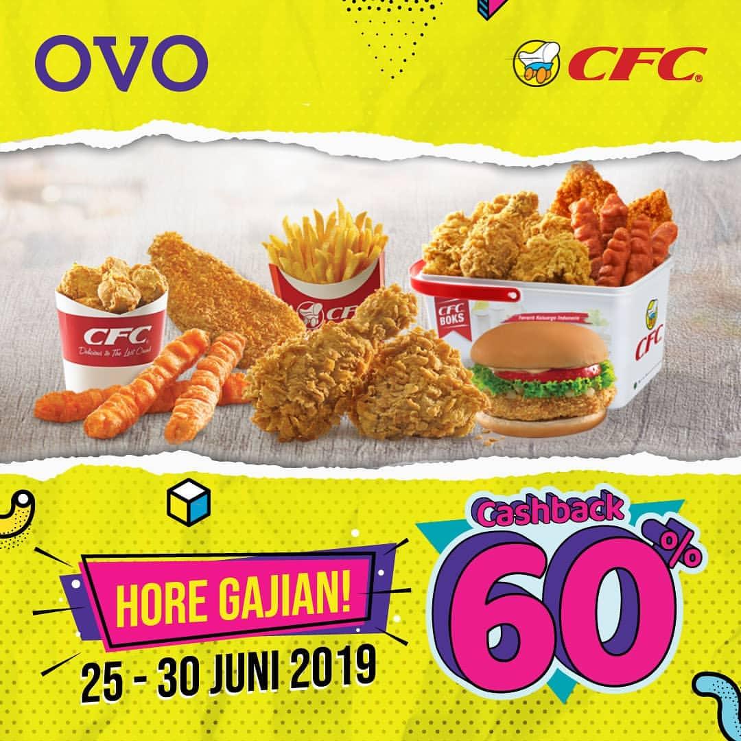 Diskon CFC Promo HORE GAJIAN Cashback 60% dengan OVO