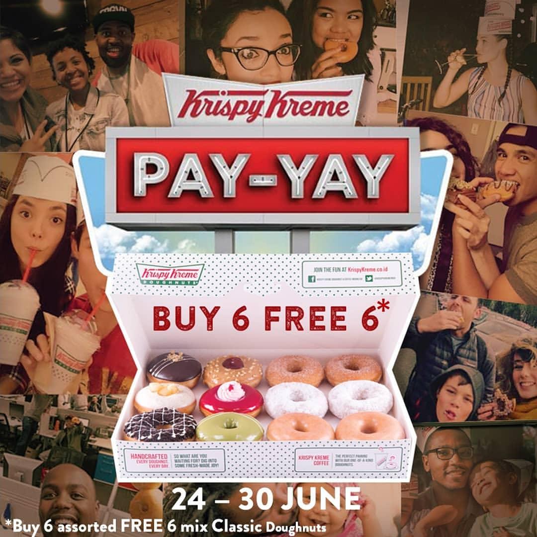 Diskon Krispy Kreme Payday Promo is Back! BELI 6 GRATIS 6 Doughnuts