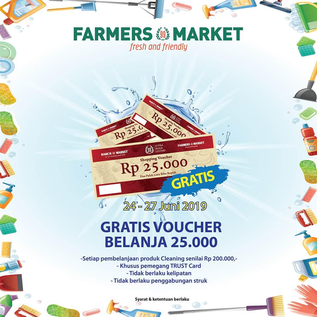 Diskon FARMERS MARKET Promo Gratis Voucher Belanja Rp.25.000