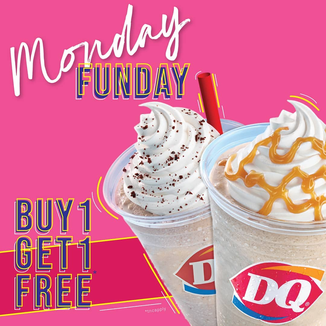 DAIRY QUEEN Promo Monday Funday Buy 1 Get 1 Free