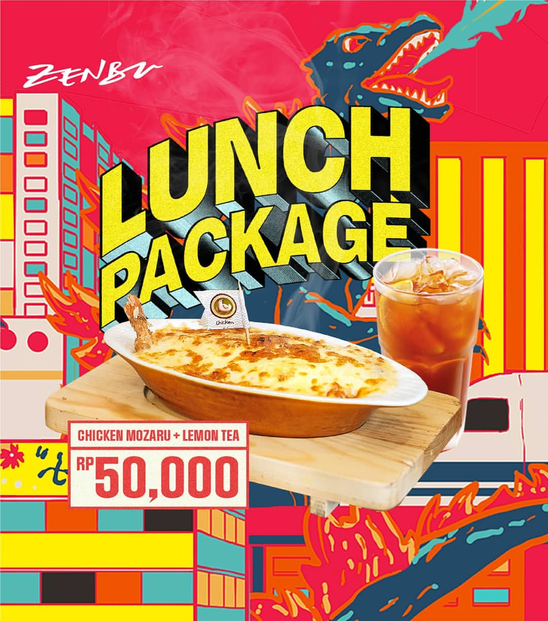 Diskon ZENBU RESTO Promo Lunch Package Chicken Mozaru + Ice Lemon Tea hanya Rp.50.000