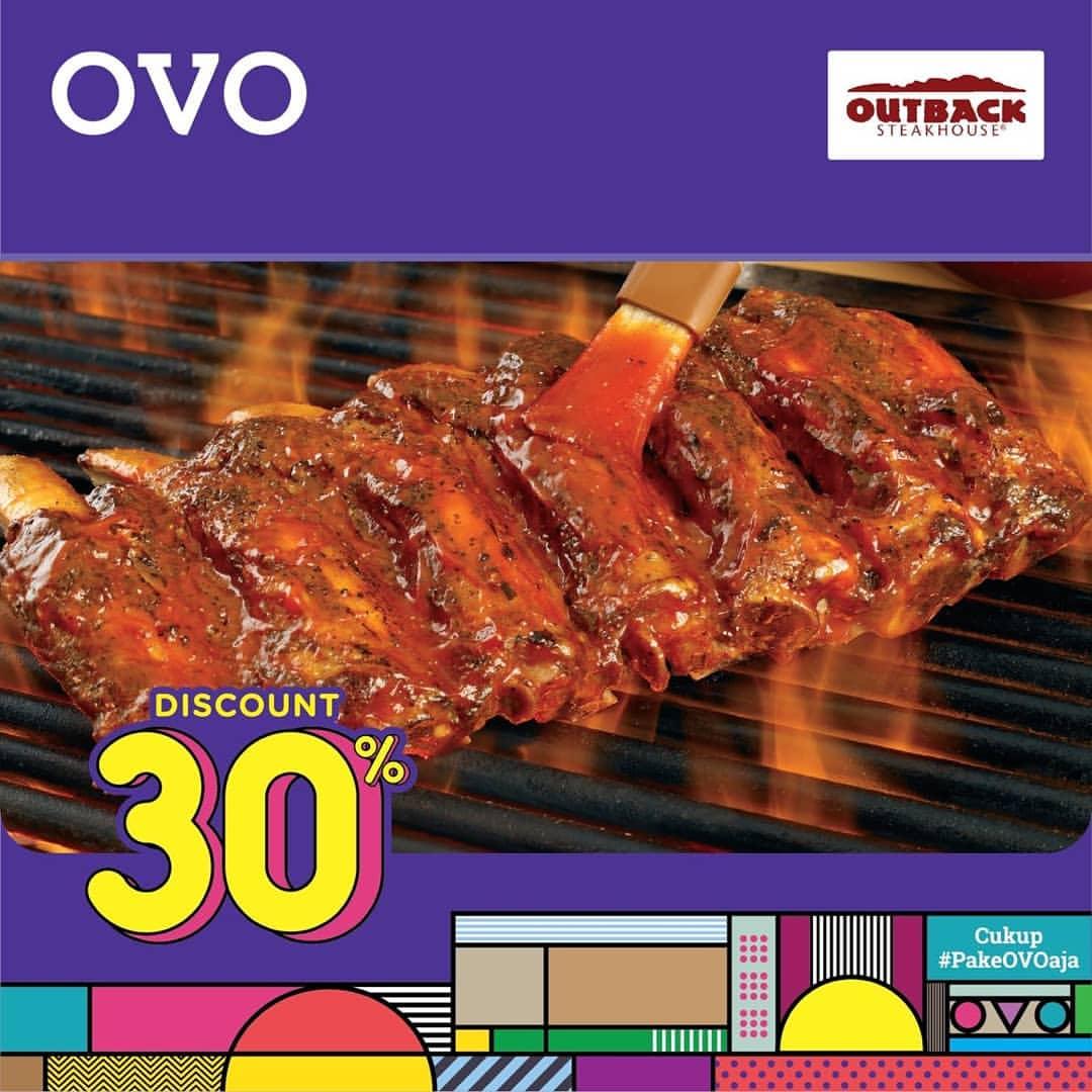 Outback Steakhouse Promo DISKON 30% semua menu dengan OVO