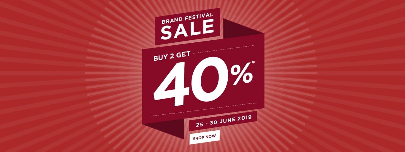 URBAN ICON Promo Brand Festival Buy 2 Get 40% untuk Brand Pilihan