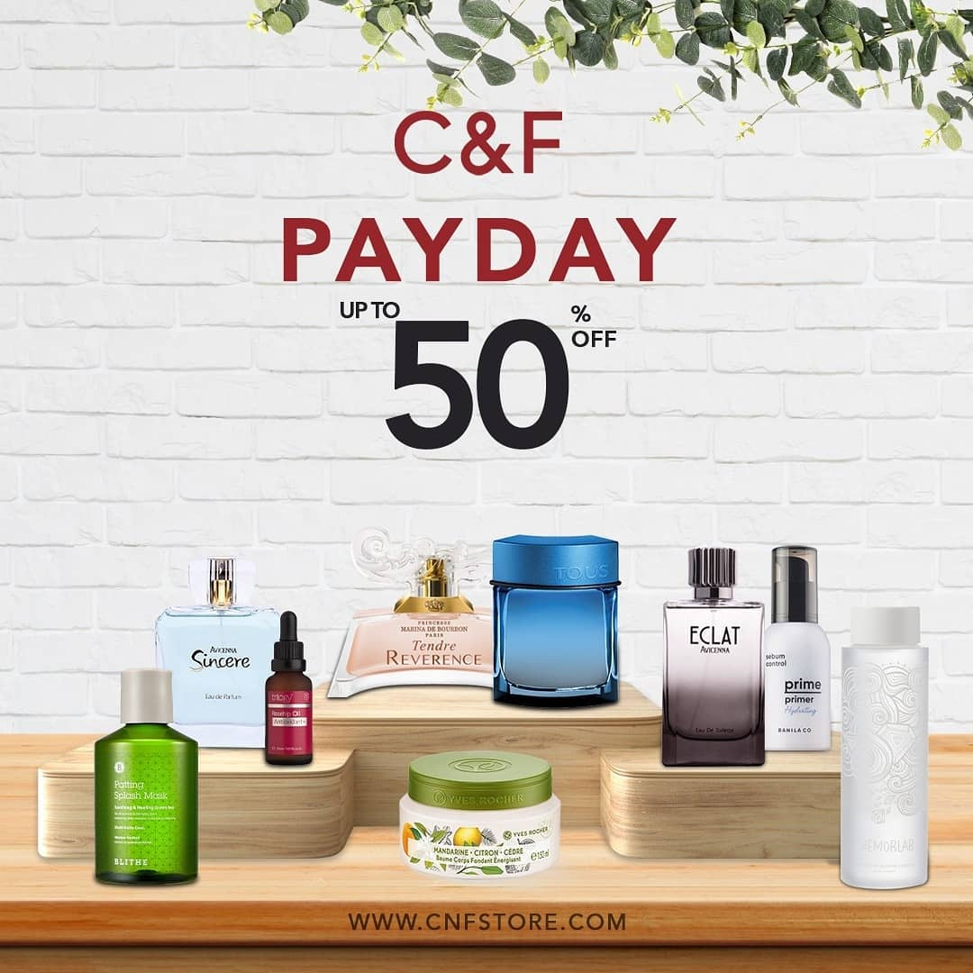 C&F PERFUMERY PAYDAY SALE Diskon hingga 50%