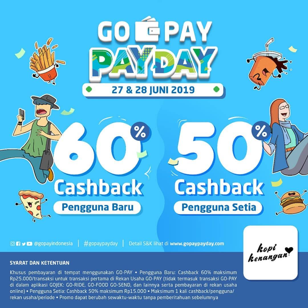 Diskon KOPI KENANGAN Promo GOPAY PAYDAY CASHBACK hingga 60% dengan GOPAY