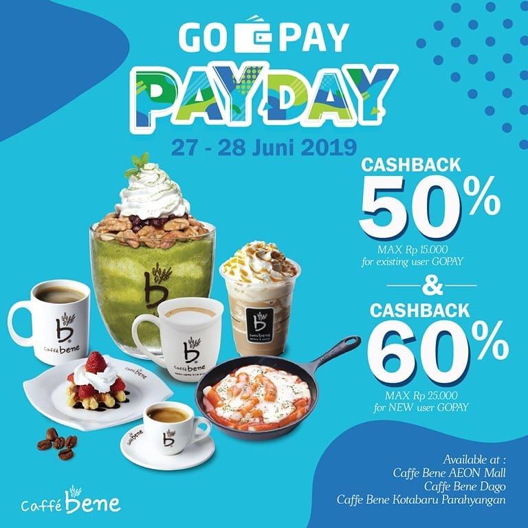 Diskon CAFFE BENE Promo GOPAY PAYDAY CASHBACK Up to 60% dengan GOPAY