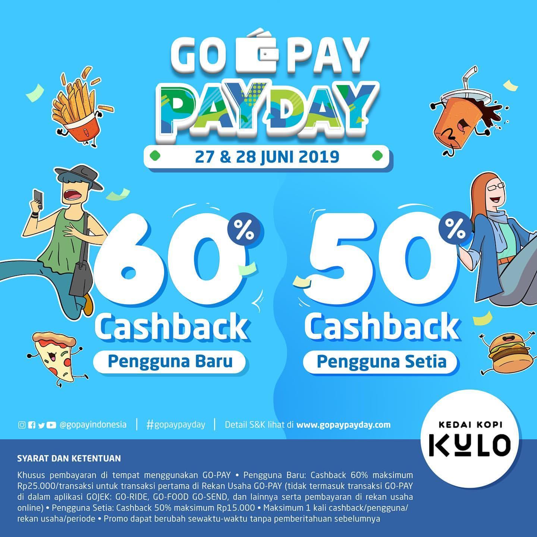 KEDAI KOPI KULO Promo GOPAY PAYDAY, Cashback hingga 60% dengan GOPAY