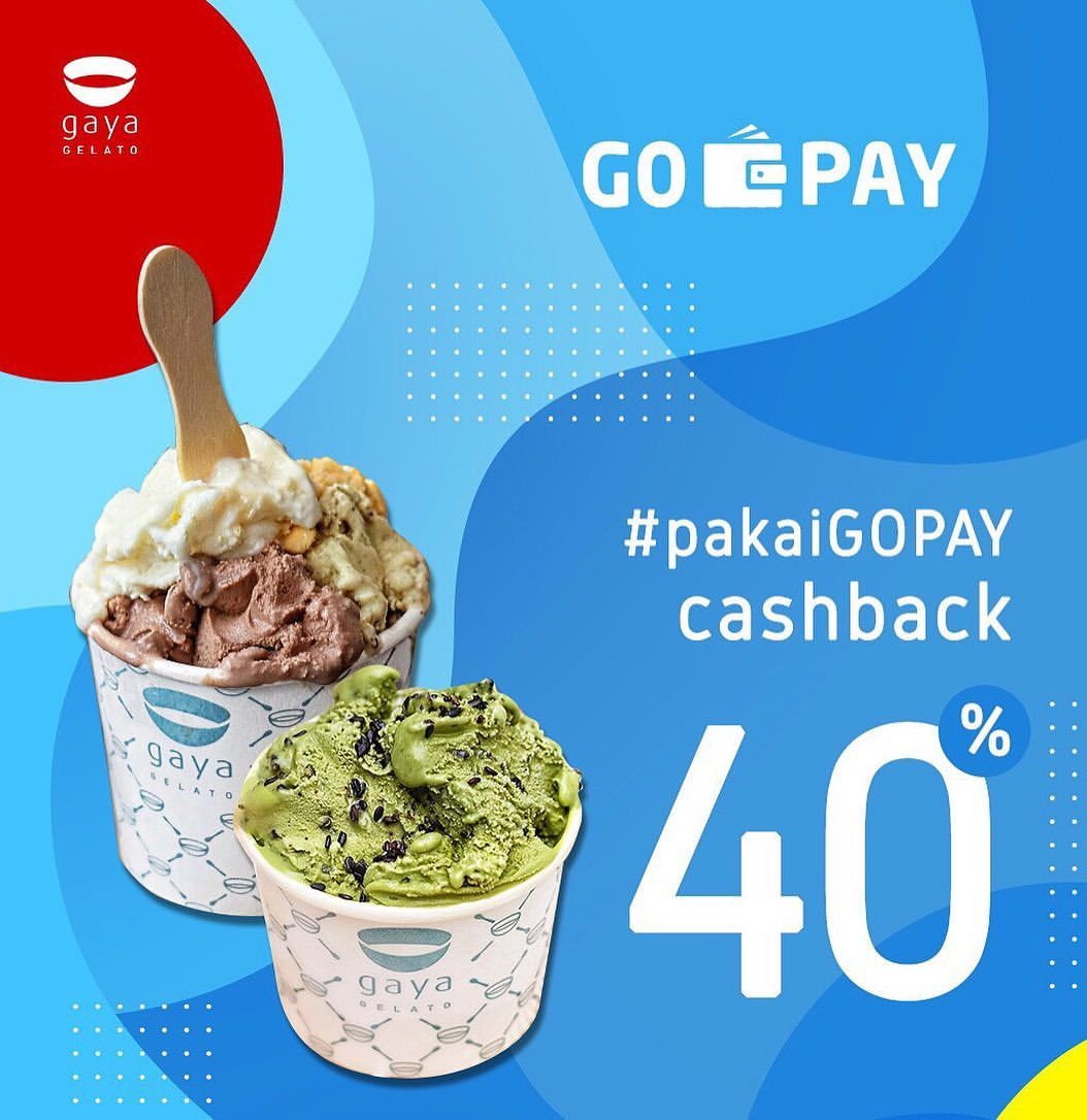 GAYA GELATO Promo CASHBACK 40% dengan GOPAY