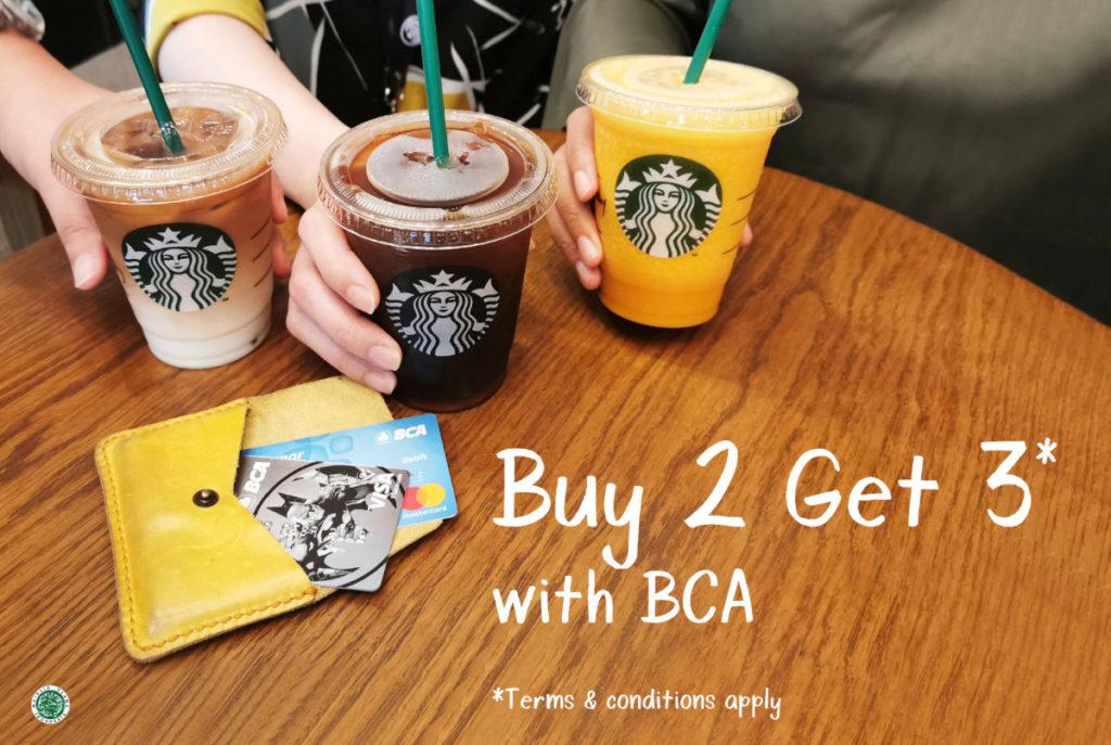 STARBUCKS Promo BUY 2 GET 3 dengan KARTU KREDIT BCA