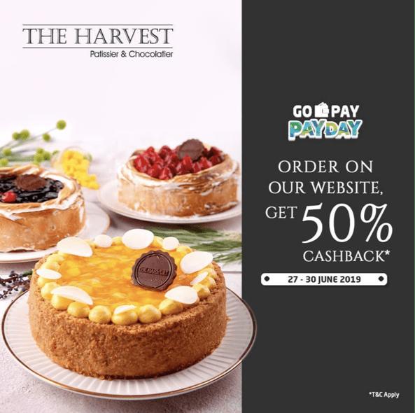 THE HARVEST Promo GOPAY PAYDAY, Cashback 50% dengan GOPAY