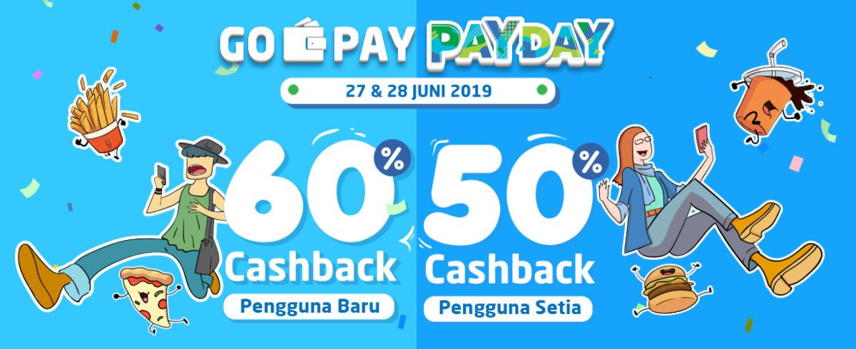 GO-PAY PAYDAY Promo, Bayar Pakai Go-Pay* Dapat CASHBACK hingga 60%