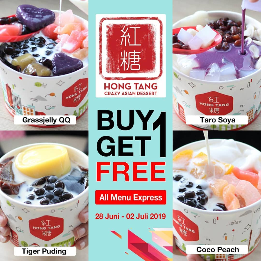 Diskon HONG TANG Promo Buy 1 Get 1 Free for All Menu Express