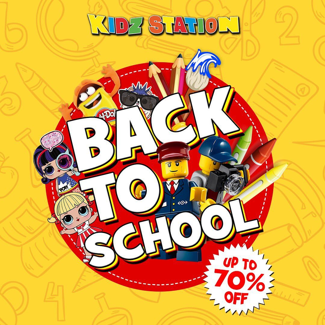 KIDZ STATION Promo Back To School Discount Up to 70% off
