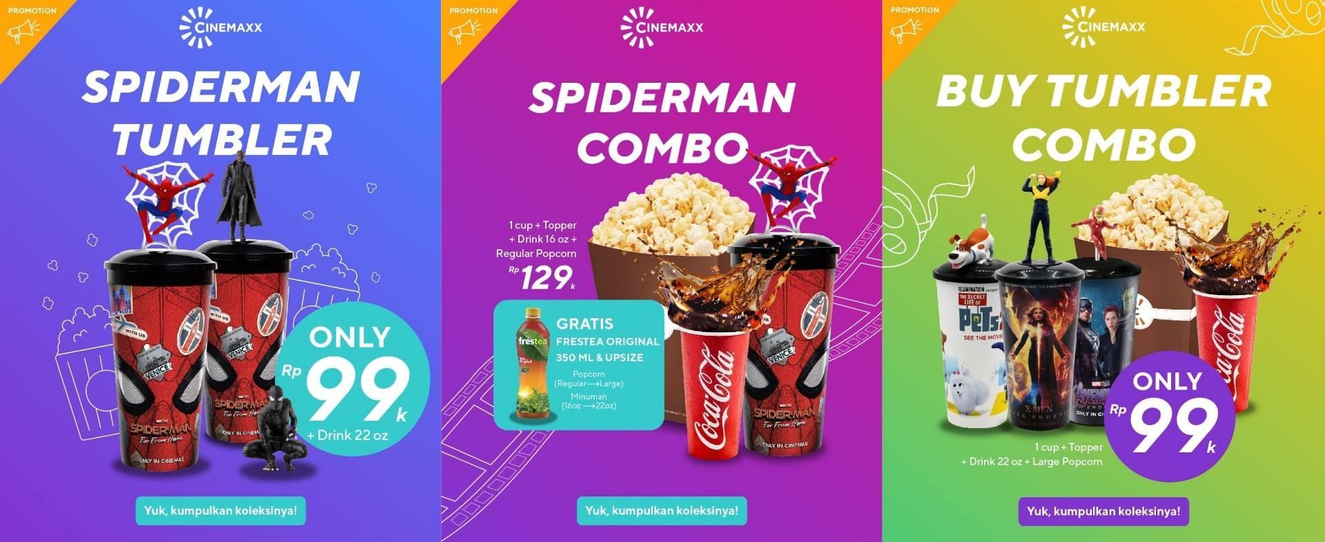 Diskon CINEMAXX Promo Paket dan Eksklusif Merchandise Spiderman Far From Home