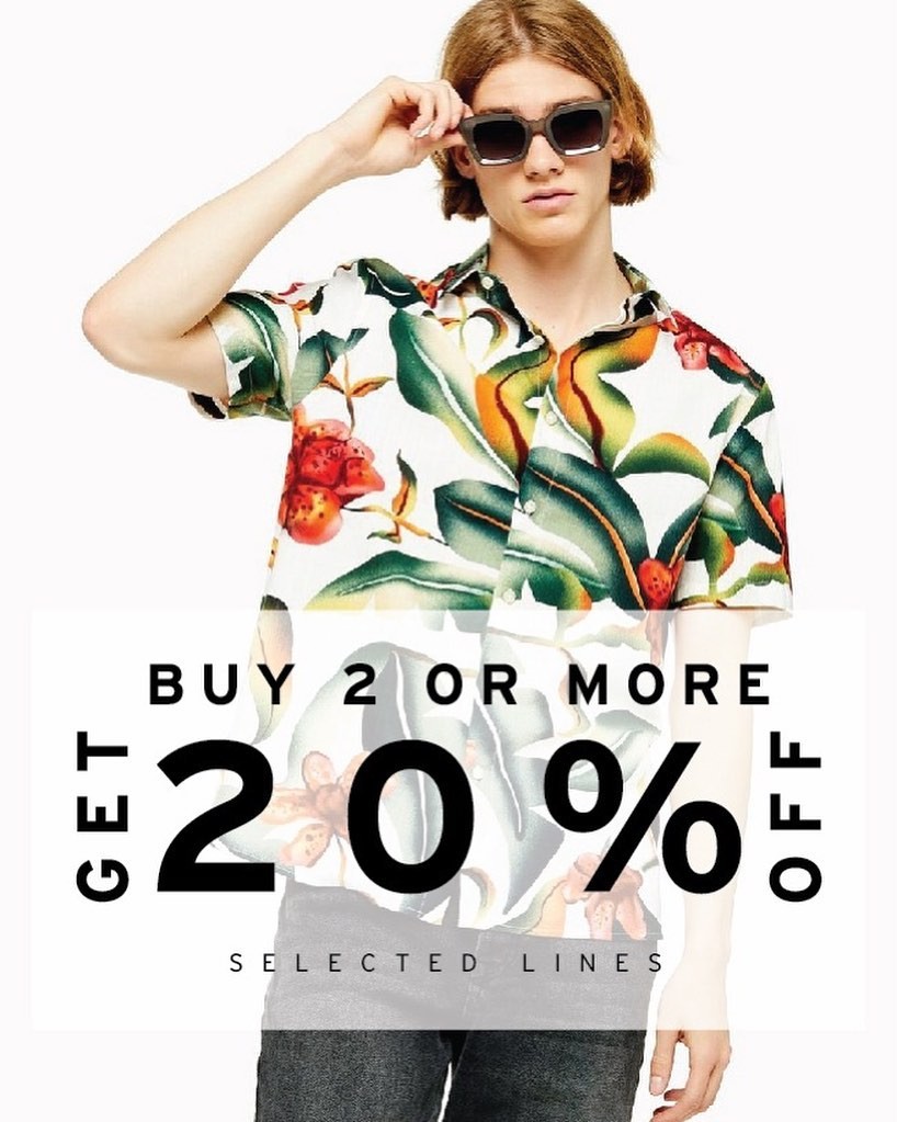Diskon TOPMAN atau TOPSHOP WEEKEND SALE, Buy 2 Or More Get 20% Off