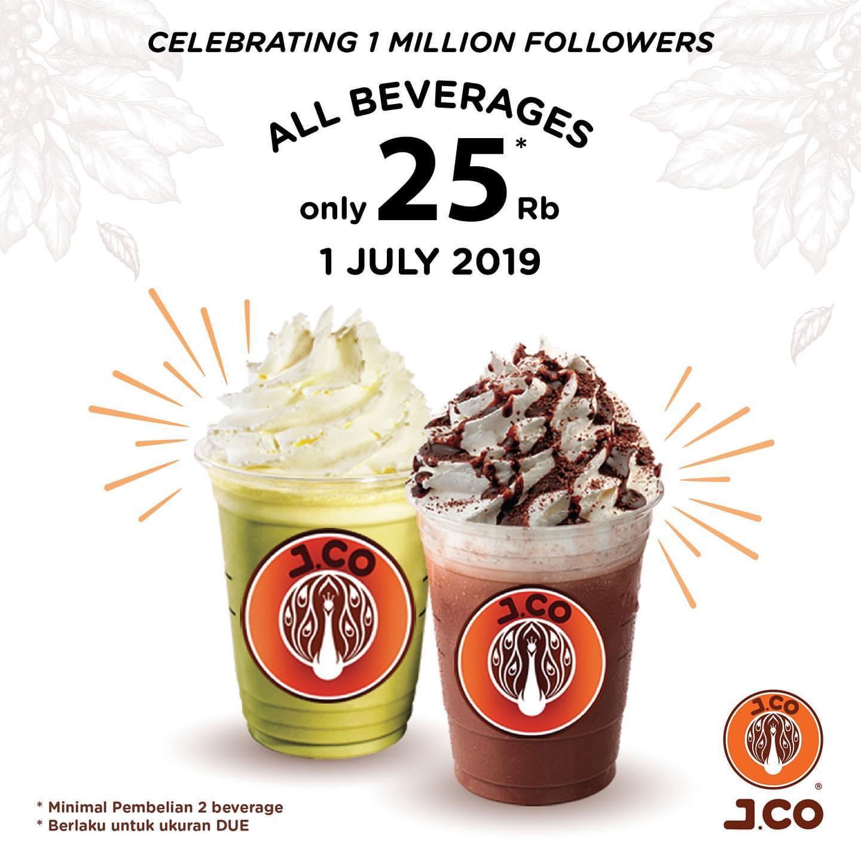 JCo Promo Harga Spesial Semua Minuman JCOFFEE ukuran Due hanya Rp.25ribu