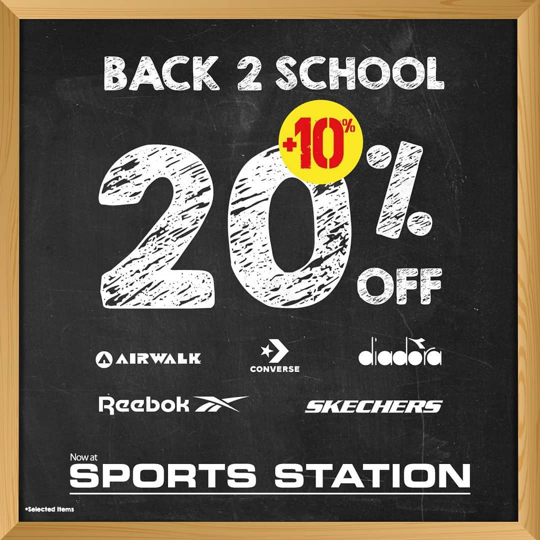 SPORTS STATION Promo Back To School Discount 20% off + 10% off selected items