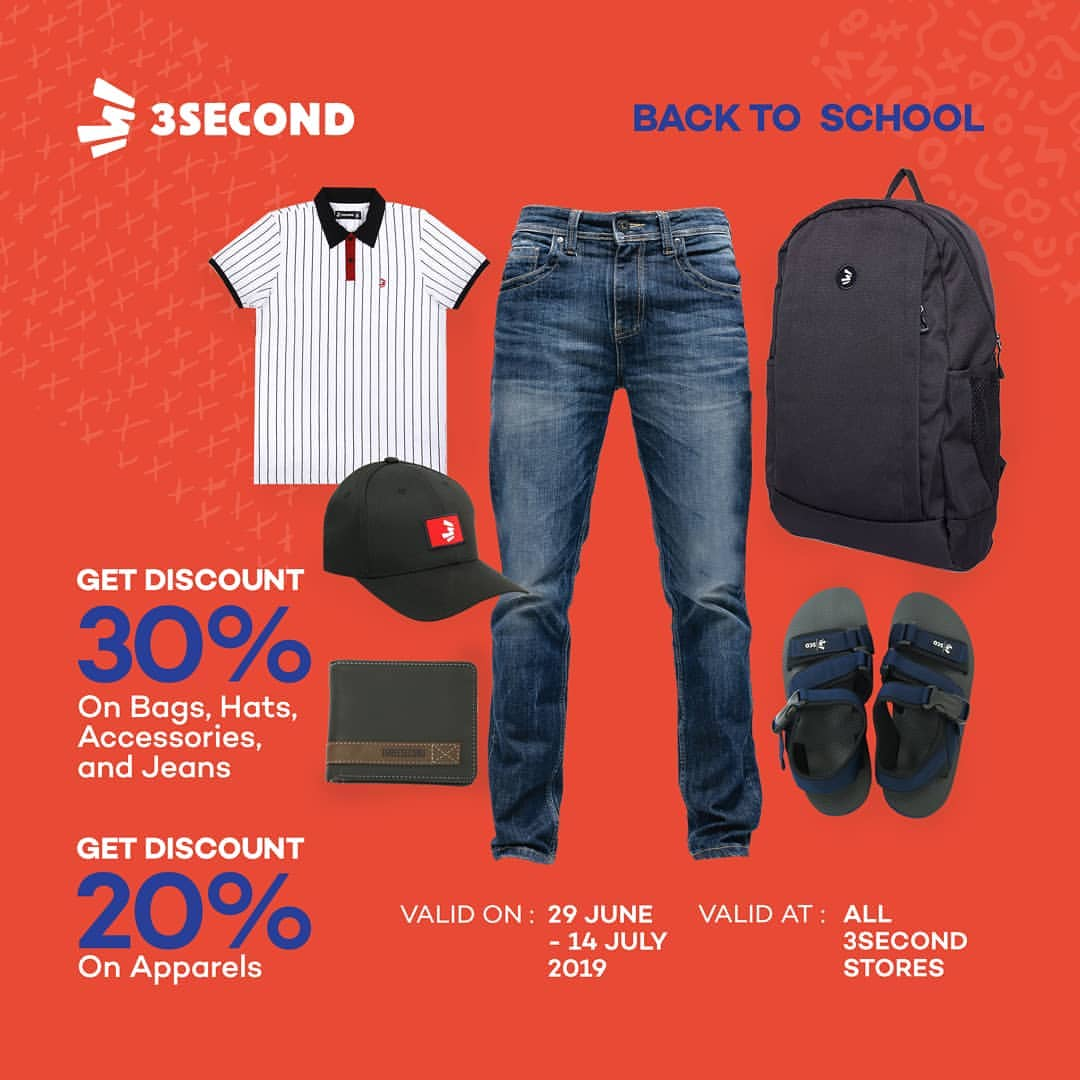 3SECOND Promo BACK TO SCHOOL, DISKON hingga 30%