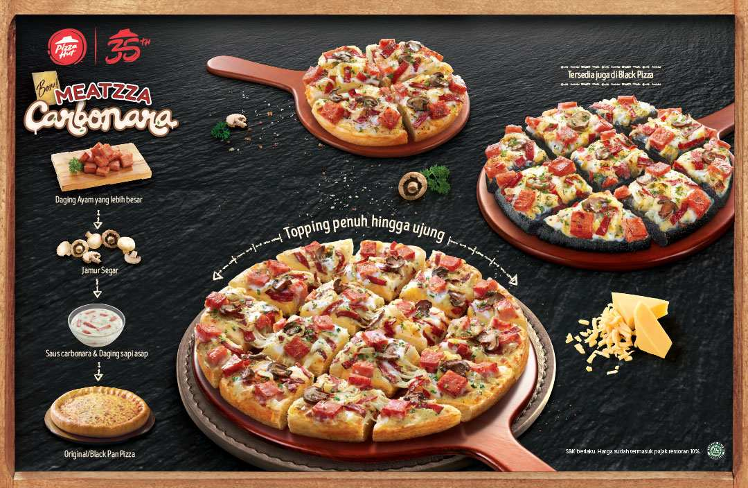 PIZZA HUT New Meatzza Carbonara Pizza