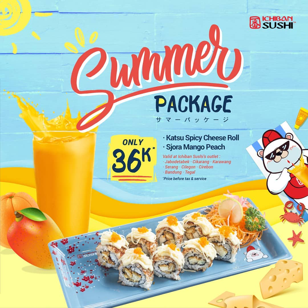 Ichiban Sushi Promo Summer Package only 36 K