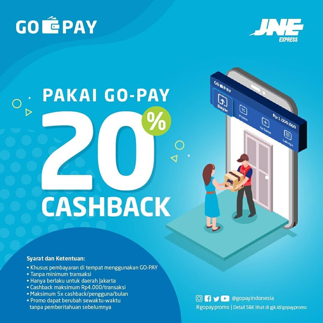 JNE Express Promo GOPAY, Cashback 20% dengan GOPAY