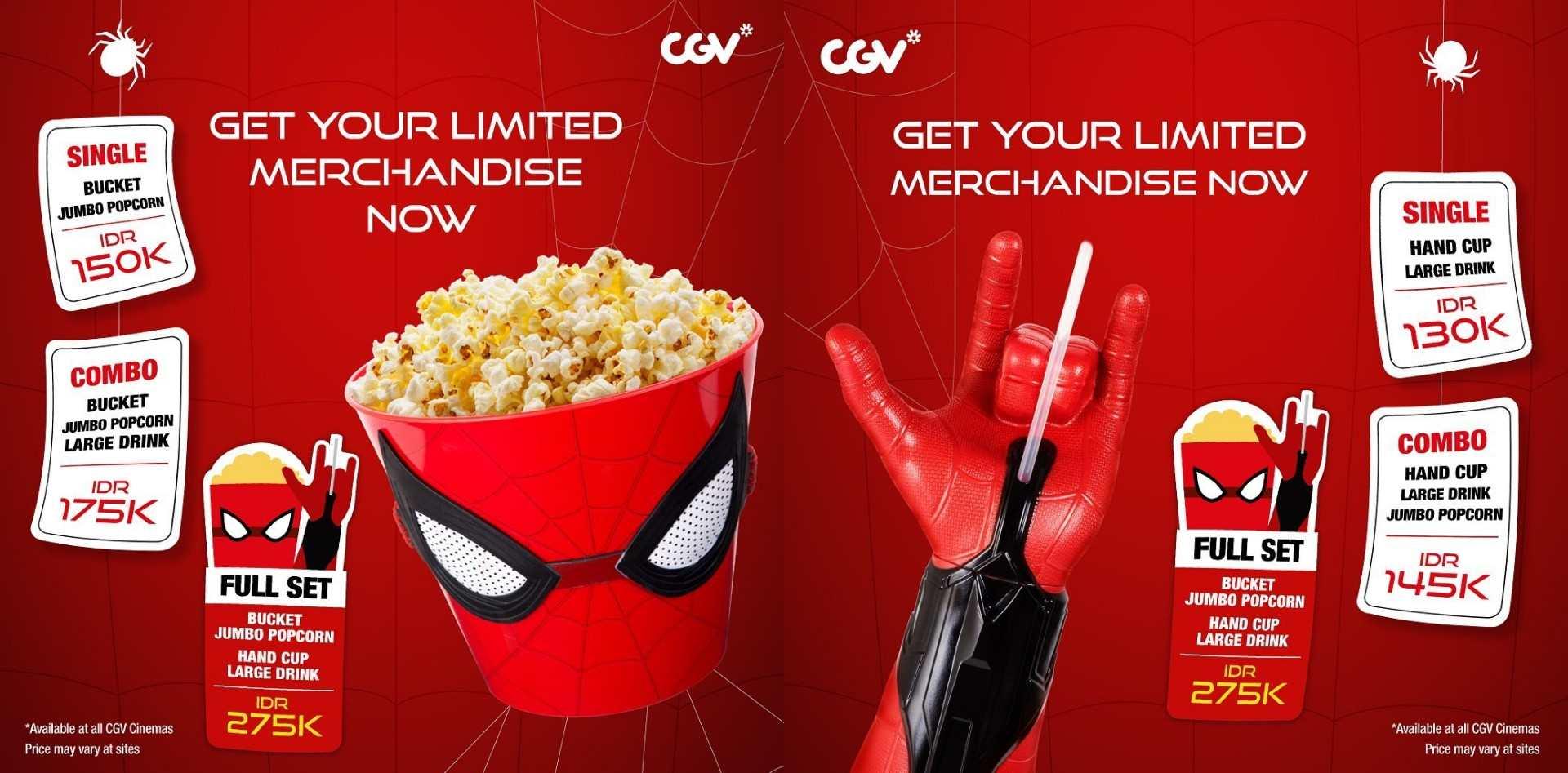 Diskon CGV Promo Exclusive Merchandise Spider-Man Far From Home, Harga mulai Rp.120.000
