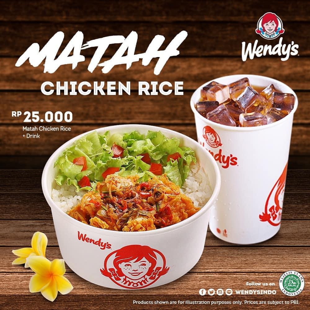 Wendy's Promo New Menu MATAH Chicken Rice Hanya Rp.25.000