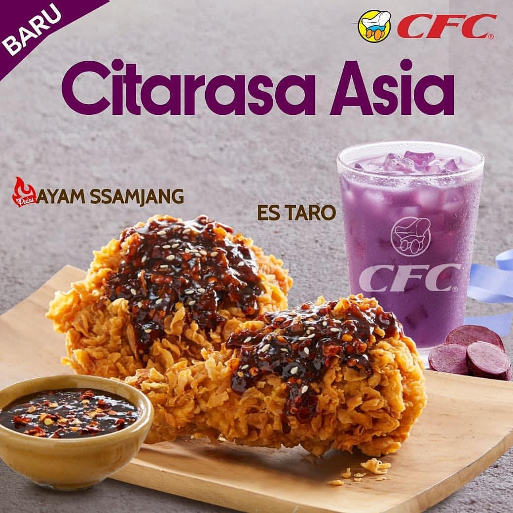 CFC Promo Menu Citarasa Asia Terbaru Ayam Samjang dan Es Taro